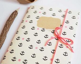 """Handmade notebook : """"Anchor"""""""