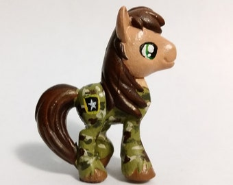 "SALE - Army ""Military Warhorse"" Custom My Little Pony Blind Bag Minature"