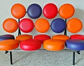 mid century modern George Nelson Herman Miller multi color marshmallow sofa DWR