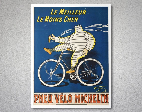 meilleur le moins cher pneu velo michelin vintage poster. Black Bedroom Furniture Sets. Home Design Ideas