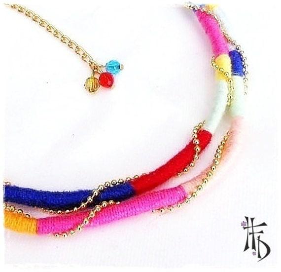 Collar Étnico de Hilo Colores