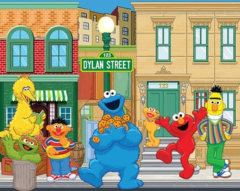 Sesame Street Party Backdrop - .JPEG File via Email Delivery - You Print Your Own