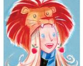 Potter Pets - Luna & Lion Hat: Art Print