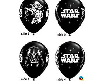 Star Wars Character Latex Balloon 5 count, birthday, movie, party, DIY supply