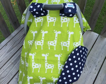 Giraffe waterproof car seat cover canopy