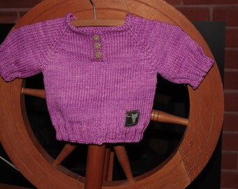 Hand knitted jumper 0-3 monhs, suiable for new borns