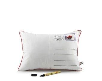 postcard pillow® love & textile pen
