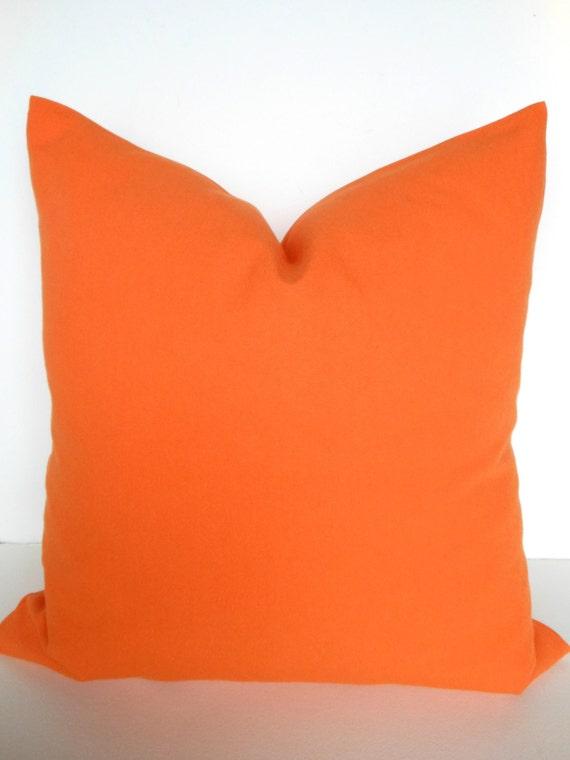 Items similar to Pillows ORANGE Throw Pillow Indoor Outdoor Pillow Covers Orange Outdoor Pillows ...