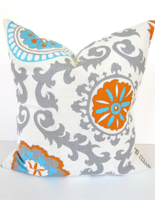 Decorative Pillows Orange And Blue : ORANGE PILLOWS BLUE and Orange Pillow Covers Blue Throw