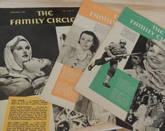 3 The Family Circle Magazines 1939, 1940, 1942