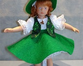 8 Inch Doll Clothes - Irish Lassie Outfit made by Jane Ellen to fit 8 inch dolls