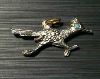 FREE SHIPPING! Vintage Roadrunner Necklace Pendant