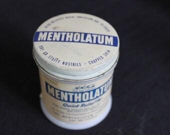 vintage medical jar & lids Mentholatum Fuller Herb Balm