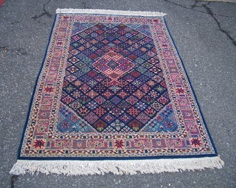 1990s Hand-Knotted Josheghan Oriental Rug (1559)