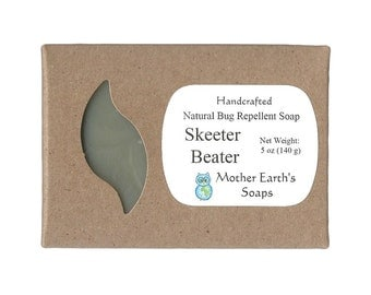 Skeeter Beater Bug Repellent Soap - Repel Insects Naturally Bug Mosquito Flea Tick Lice Vegan Soap
