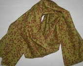 Neck Scarf Cotton Scarf Indian Scarf Olive Green SSF1