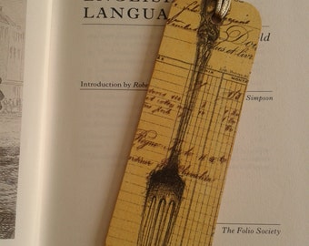 Fork and Knife Bookmark Decoupage