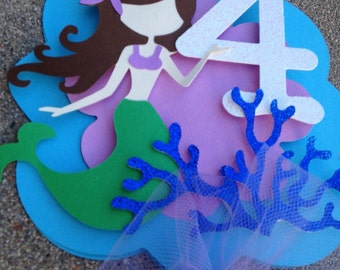 Mermaid cake topper, under the sea cake topper, mermaid decoration, under the sea decoration