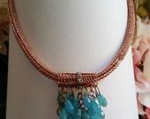 Copper double weave Viking knit necklace