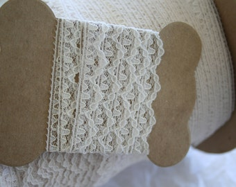 "Ecru Vintage Lace 1/2"" Wide"
