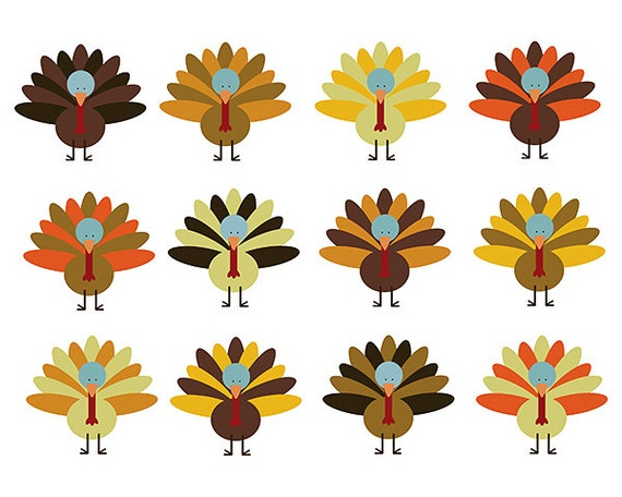 clipart sale 60 off thanksgiving turkey clipart digital design rh catchmyparty com Turkey Feather Clip Art Turkey Clip Are