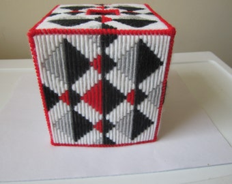 SHADOW DIAMONDS BOUTIQUE Needlepointed Tissue Box Cover