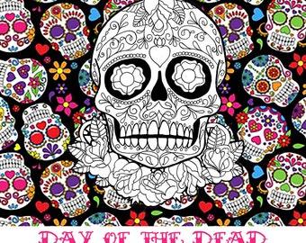 Day Of The Dead Digital Stamp Set