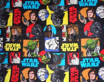 Black Star Wars Character Cotton Fabric by the Yard
