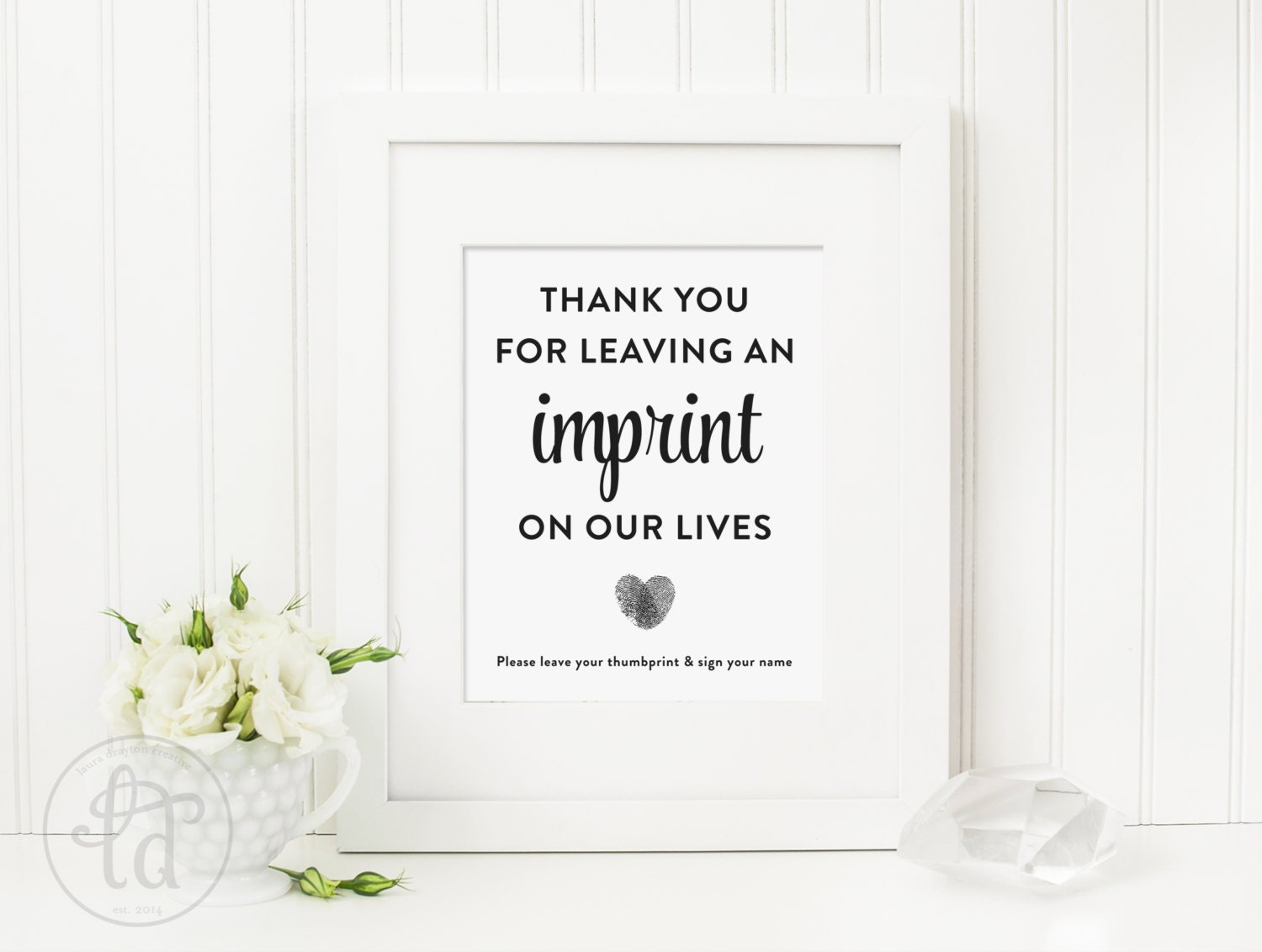 thumbprint guest book instructions