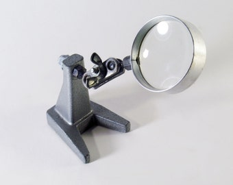Magnifying Tool, Jewelers, Pedestal Mount, Desk Top Tool, Detail Work, Infinite Positions, Shop Tools
