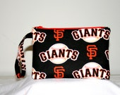 SF Giants Wristlet Pouch or Cross Body Bag, Smart Phone Bag, Digital Camera Bag, iPod Bag, Padded Bag, Small Tech Bag