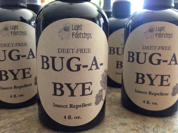 BUG - A - BYE Insect Repellent - Bug Spray - Bug Off - Bug Away - Made with organic herbs and essential oils