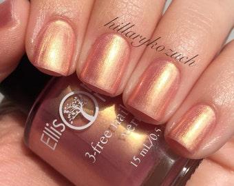 Rose Gold Nail Polish - cruelty free, 3-free Nail Lacquer - 0.5 oz Full Sized Bottle - Nails, Nail Designs, Nail Art - Secret Love