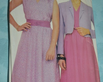See and Sew 3889  Misses Dress and Jacket Sewing Pattern- UNCUT - Sizes 8 - 18