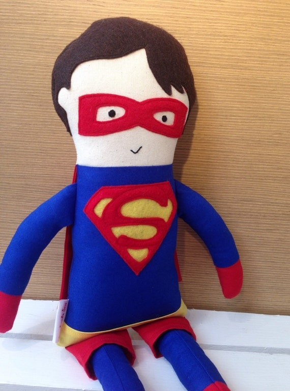 Super Hero Toys For Boys : Superhero doll superman fabric action figure