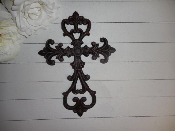Religious Christmas Wall Decor : Black cross wall art religious home decor