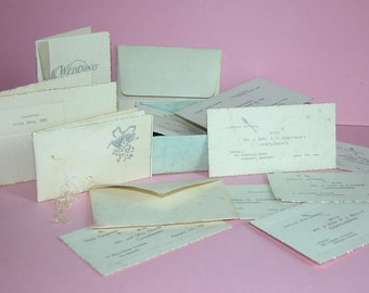 A nostalgic collection of 1920's - 1930's Wedding invitations.