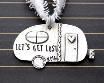 Camper Ornament | Hand Stamped and Personalized | Christmas Gifts | Trailer ornament | Christmas ornament | fifth wheel