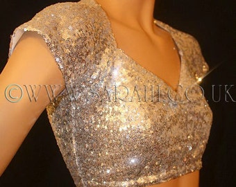 SILVER SEQUIN CROP sequin top, bellydance , belly dance, casual, cover up, bolero