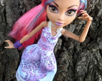 "OOAK Designer ""Purple Haze"" Dress ONLY Fits Monster or Ever After Dolls Unique High Fashions MH / Eah Custom Doll Clothes"