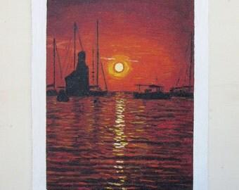 Original oil painting - Benirras