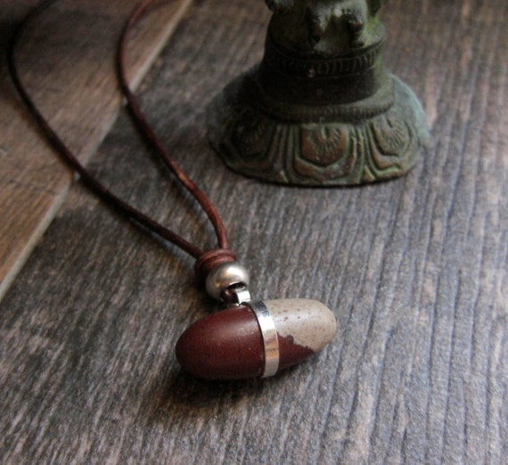 Shiva Lingam Leather Necklace