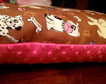 X Large Puppy Lumbar Pillow (Minky)