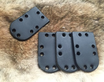 200 x 5 mm thick buffalo black or brown Lamellar scales, larp, sca, medieval re enactment, Renaissance fair, fantasy, viking.