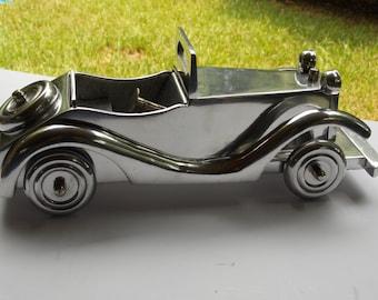 Vintage Miniature Model 1930's Stainless Steel /Chrome Automobile
