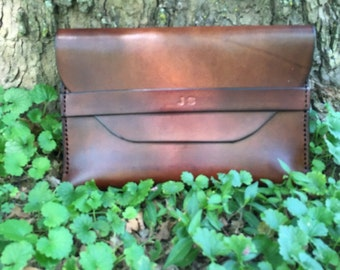 Leather Clutch Bag, Leather Handbag, Leather Strap Case, Small Cluth Bag