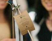 Wedding Ribbon Wand Tags - Deposit