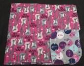 Rock 'N Roll Guitar Flannel Baby Blanket - Double Sided - Receiving Blanket (B3)
