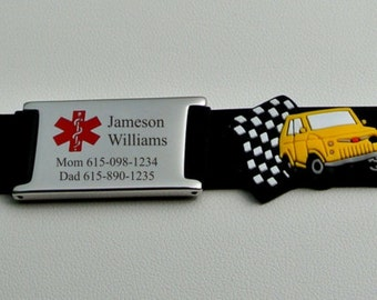 Personalized Children's Medical Alert Kid's ID Bracelet Custom Engraved Free