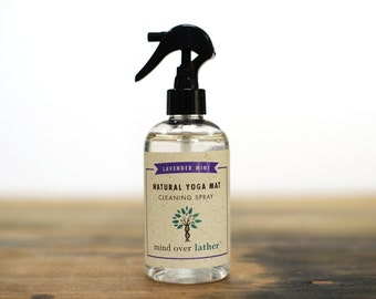 Lavender Mint Natural Yoga Mat Cleaner, 8oz